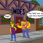MC Mary @ The Moe's (Simpson's Parody Cartoon)