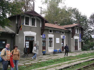 Railway station Cacica in Romania