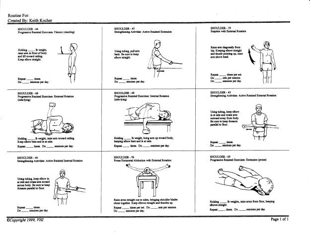 Basic Shoulder Therapy Excercises