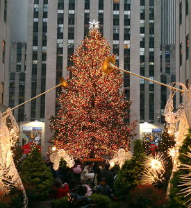 Christmas tree at Rockefeller Plaza, New York, 2006