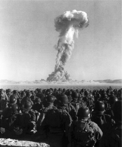 Atom Bomb Testing in 1951... yeah those are real troops.