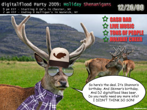 digitalflood Party 2009: Holiday Shenanigans