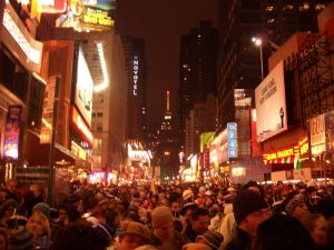 Times Square in NYC back in 2006 - We don't plan on having this many people around for our version of the event.