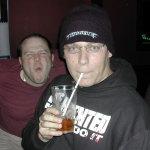 Skow Steals DJ digitalflood's glasses - 2005 (Photo by DJ SlipK)